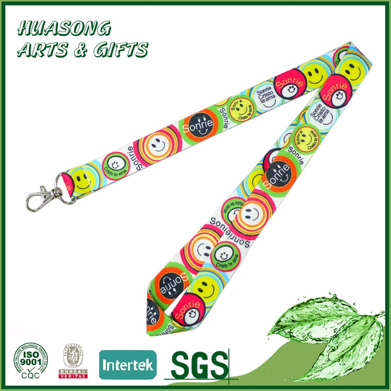 Cheap custom nylon school id lanyard for keys