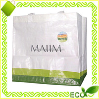 factory offer custom promotional eco shopper tote beach handled recylable bopp laminated pp woven bags reusable bag