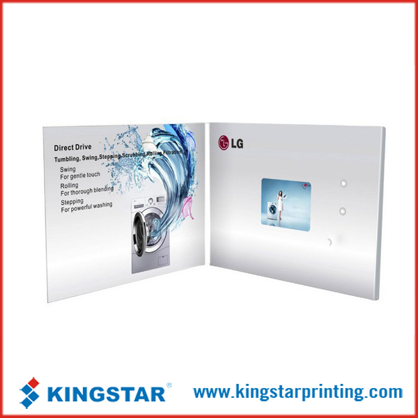 4.3inch LCD screen video greeting card