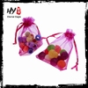 Fashionable custom style portable organza sachet pouch