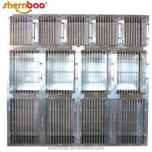 Shernbao KA-509 Aluminum Collapsible Dog Cage Bank Modular Cages with Waste Tray