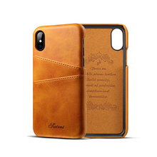 High-quality Luxury Leather Mobile Phone Shell For iPhone X With Card Cases