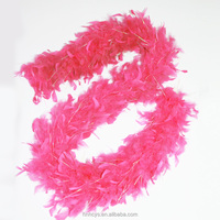 Wholesale 1.8M long natural Turkey feathers Feather boa Decorative diy multicolor
