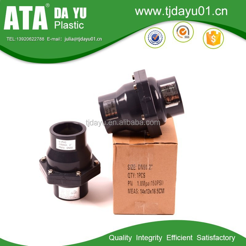 ASTM socket pvc swing check valve dn20-dn150 by chinese products online