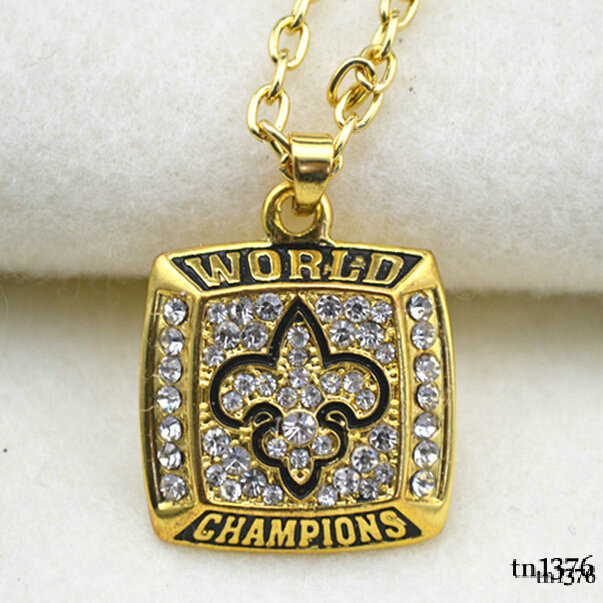 Hot gold crystal world champions sport necklace energy jewelry