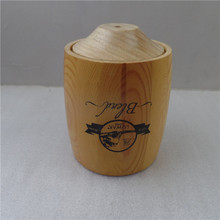 Silk printing finished wooden coffee bean gift barrel,small keg wooden for coffee