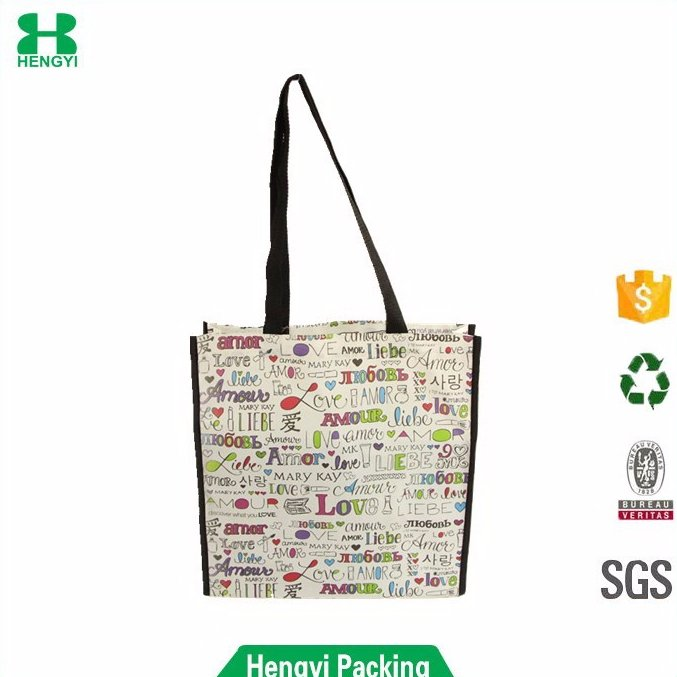 Wenzhou wholesale daily shopping custom design full color print laminated tote non woven bag