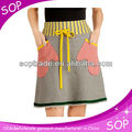 Cotton sport knitted sport skirts high waist pockets A line skirt