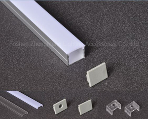 19*14mm Anodized extruded aluminum profile/Aluminum profile led strip light channel for hanging lighting