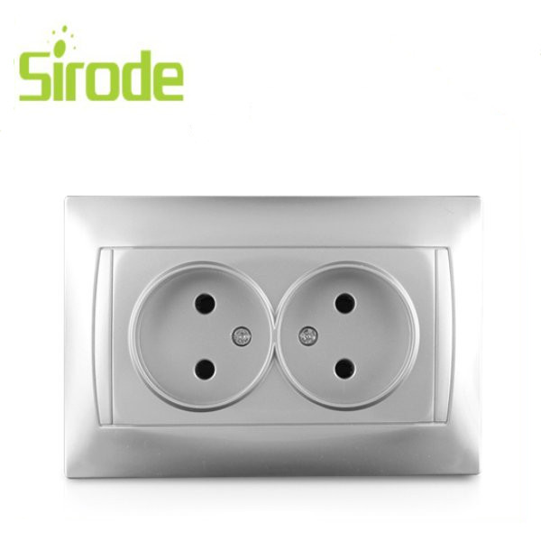 2017 Sirode 1 gang SCHUKO socket with protection cover speed switch Wholesale Factory