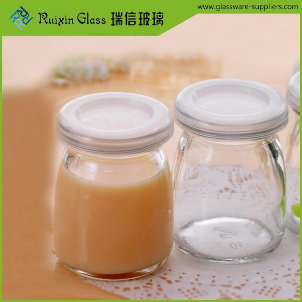 High quality straight sided clear glass jar,food jar glass customized logo