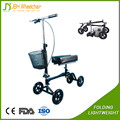 Steerable and foldable Knee Walker scooter