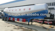 Low density of powder material transport tank large volume tri-axle semi trailer