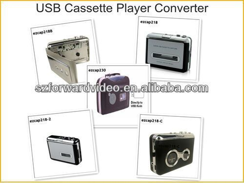 Cassette Converter to USB flash disk tape to MP3 files directly ezcap231