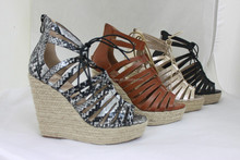 Ladies Hemp Rope Wedge Sandals/ Fashion shoes