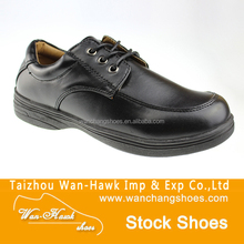 Boy black school stock shoes
