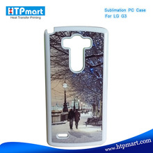 2D pc blank sublimation phone case waterproof case for lg g3