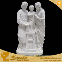outdoor decoration carving white marble religious statues of family