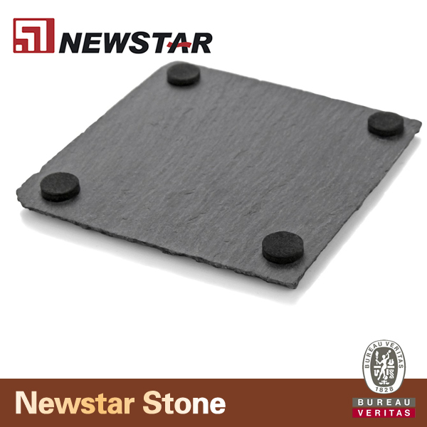 Thirstystone 6 slate drink coasters and bamboo coaster holder buy slate coaster holder - Slate drink coasters ...
