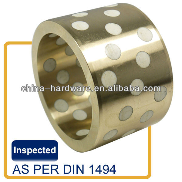 Water application oillesse bronze bushing,aluminum bronze with PTFE lubricants plugged