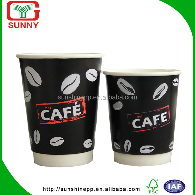 Custom Insulated Double Wall Biodegradable Paper Cup