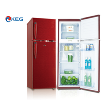 202L Fashion Glass Door Retro Refrigerator Top Freezer Double Door VCM Flowers Series Fridge