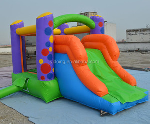 New inflatable bouncer with slide, double sided inflatable bouncy combo for kids B3095