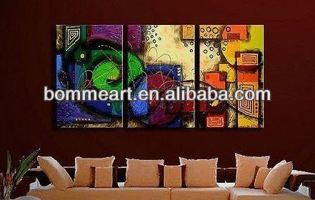 Decorative High quality hand-painted abstract group oil painting Modern wall art CJX2013025