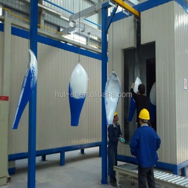Powder coating machine for light pole