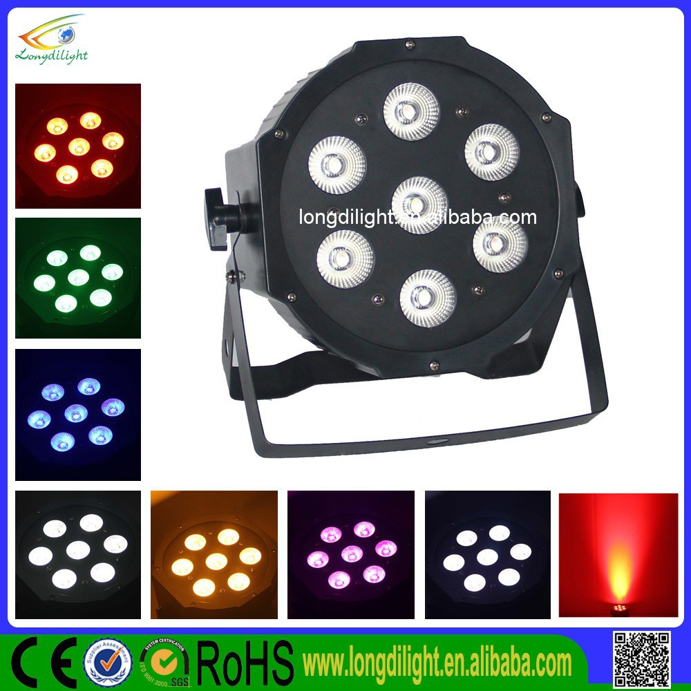 Chepaer Mini backlight 7x10W 4IN1 RGBW LED FLAT PAR STAGE LIGHT