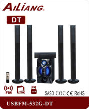 Ailiang 2017 hot-sale 5.1 speaker/home theater system, 5.1 CH Multimedia Speaker System USBFM-9800L