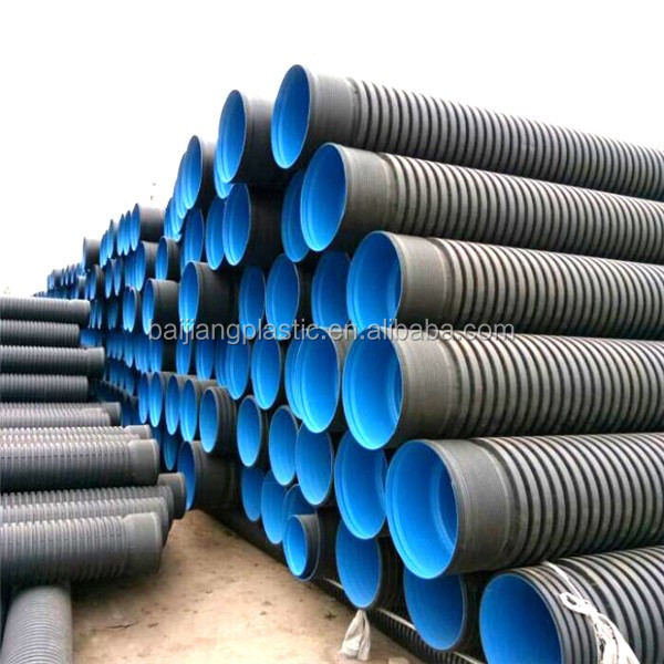 Popular pn 8 underground storm water polymer drainage pipe