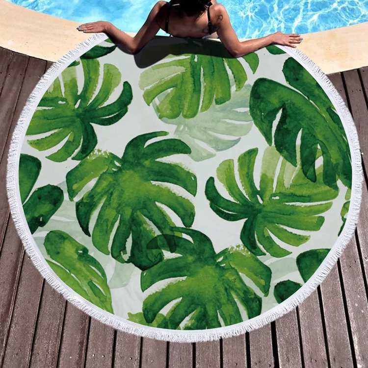 New 150*150cm Digital Print Multi-purpose Microfiber Round Beach <strong>Towel</strong>