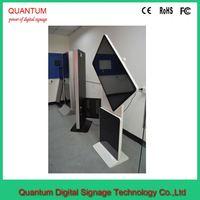 "442"" 50\"" 55\"" vertical lcd panel stand advertising display with all in one pc"