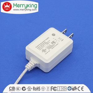 Logo print mini travel plug power adapter 12v 1a JP plug with PSE for Japan market