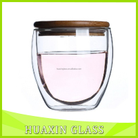 Hot Sales safe drinking glass handmade borocilicate material double wall glass