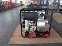 3 inch single stage key start centrifugal aluminum diesel water pump(KDP30E)
