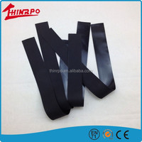small size silicone sheet black anti-slip strip thin rubber sheet