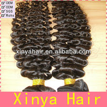 Full bottom curly and deep wave machine wefts Vigin peruvian hair deep curly