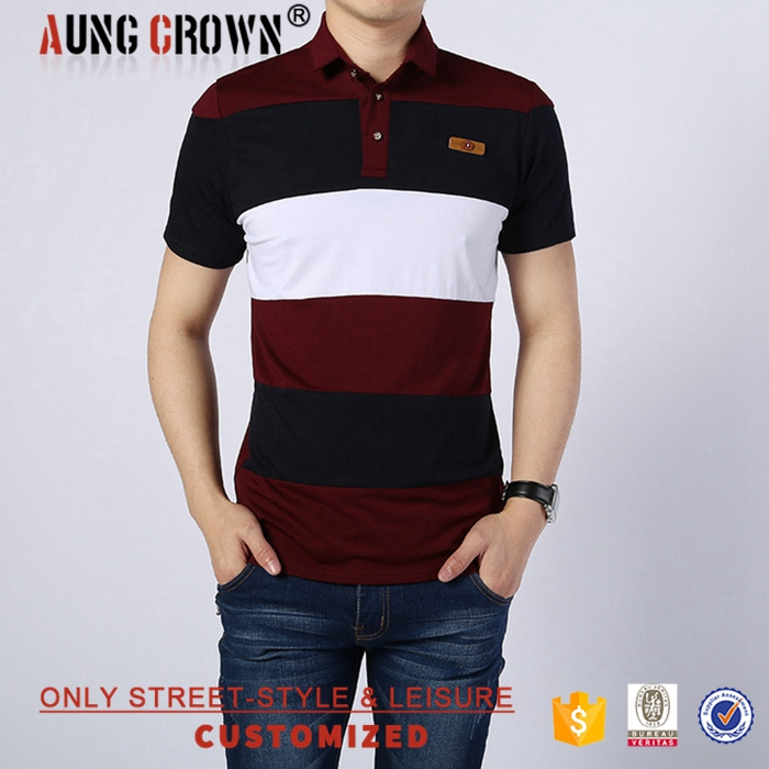 Fashion Latest Designs Small MOQ Mens Custom Cotton Polo Shirts