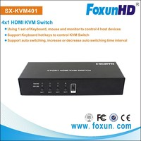 SX-KVM-401 Foxun/OEM 4x1 USB HDMI KVM Switch with Auto Switching