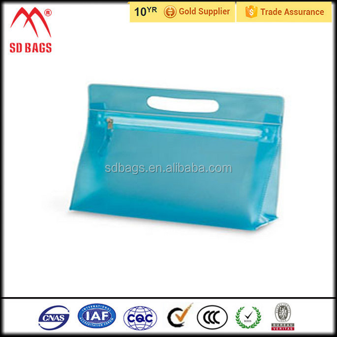 Manufacturer supply clear cosmetic pvc bag , pvc bag shell