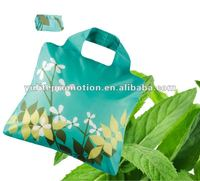 promotional full area printing soft 190T polyester foldable easy carry shopper bag