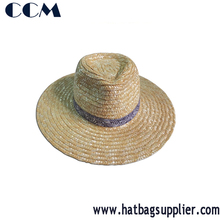 Natural Wheat Braided Brim Farmer Sun Hats