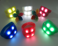 Silicone rubber LED bangles / luminous wristbands / flashing bracelet enjoyed a huge market