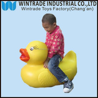 custom70cm big yellow baby children floating duck toy