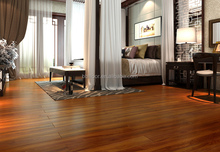 new collection 12mm V-groove handscraped laminate flooring
