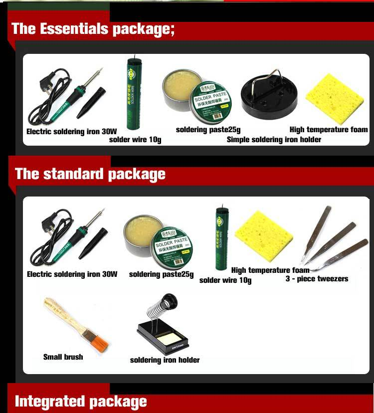 oxidation-resistivity 30W/40W/60W Electric Soldering Irons Solder Tool Kit Set