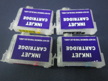 4 colors refillable ink cartridge with chip for Epson Expression XP-204 XP-211 XP-214 XP-401 accept paypal