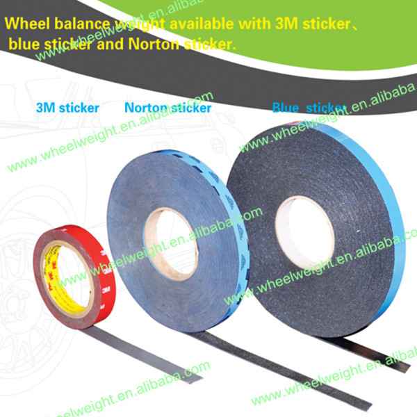 Fe adhesive wheel balance weight